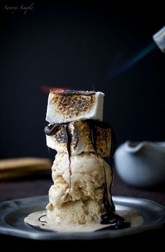 Absolutely gorgeous lighting, stacking, movement.. this is perfection.  S'mores Sundae