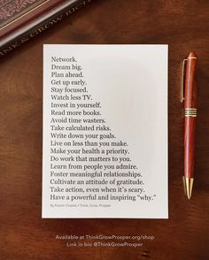 """19k Likes, 200 Comments - A Wealth of Wisdom (@thinkgrowprosper) on Instagram: """"When I originally wrote this list and posted it as a digital graphic on @thinkgrowprosper two years…"""""""