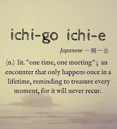 Ichigo ichie. Credits: immagine reperita su Pinterest.