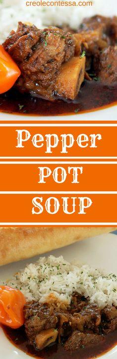 Spicy Pepper Pot Soup -Creole Contessa
