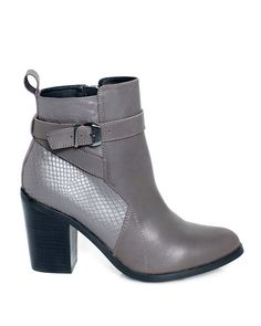Gray heeled short boots-gorgeous