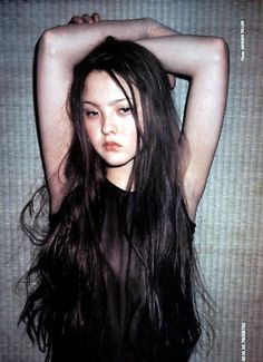 Devon Aoki, shot by Juergen Teller for Allesandro Dell'Acqua HER HAIR <3