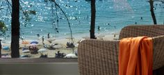 overlooking Platis Gialos Beach #whiterockshotel #Kefalonia #Greece