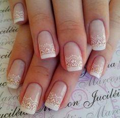 Neutral Nail Designs, Neutral Nails, Nail Art Designs, Bride Nails, Wedding Nails Design, Burlap Lace, Nail Stamping, Nail Inspo, Pretty Nails