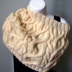 Cream Cable Cowl One creation many ways to by HandKnitArtisans, $49.00