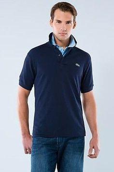 Men Polo Shirt Short Sleeve Navy Blue