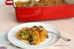 Paleo spaghetti squash casserole #fresh4five