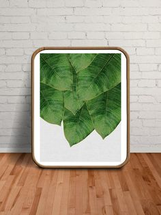 Banana Leaf Print Banana Leaf Art Prints von paperpixelprints