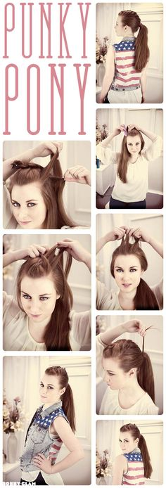 Punky #ponytail #hair #hairdo #hairstyles #hairstylesforlonghair #hairtips #tutorial #DIY #stepbystep #longhair #howto #guide #everydayhairstyle #easyhairstyle #braid #hairextensions