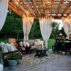 35 Creative Terrace Garden To Convince Your Family. Assessing your house and lawn with a terrace garden may truly be the very best of small space gardening since it will allow your backyard to fulfill. Backyard Patio Designs, Pergola Designs, Backyard Landscaping, Backyard Pergola, Patio Ideas, Outdoor Spaces, Outdoor Living, Outdoor Decor, Outdoor Patios