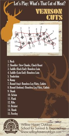 How well do you know your Venison (Deer) Meat Cuts? I like and Maybe How well do you know your Venison (Deer) Meat Cuts? I like and Maybe am I kidding, I like the whole thing!