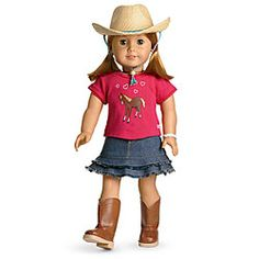 Western Riding Outfit & Hat for American Girl Doll