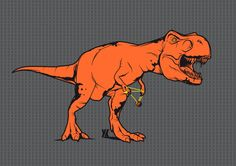 orange t-rex extinction