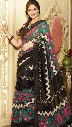 Get Fashionable Latest Black Art Silk #PrintedSaree Product code: KPS-37561 Price: INR1396 (Unstitch Blouse), Color: Black Shop Online now: http://www.efello.co/Saree_Fashionable-Latest-Black-Art-Silk-Printed-Saree,-Sari_35740
