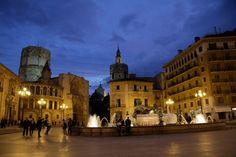Plaza de la Virgen. Valencia.Spain
