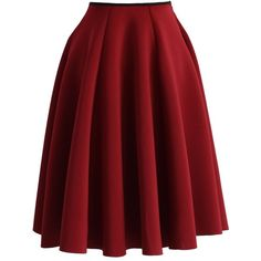 Simple Chic Airy Full Skirt in Wine Red Skirts, Cute Skirts, Indie Fashion, Fashion Outfits, Chicwish Skirt, Vestidos Fashion, Led Dress, Elastic Waist Skirt, Bridal Fashion Week