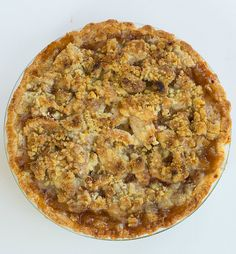 Maple-Apple Pie with Walnut Crumb Topping | browneyedbaker