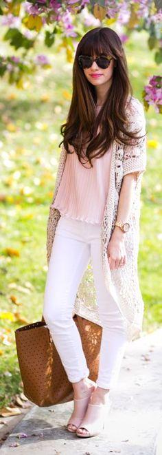 Crochet Cardigan Outfit Idea