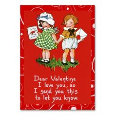 Old fashion Kids Valentine cards for the little ones in your life. Sweet little notes for school mates, co-workers or customers! Just tuck one in somewhere. Add your greeting.
