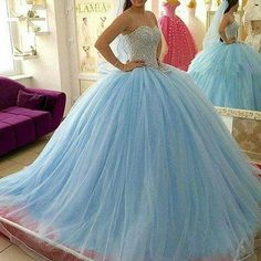 Find More Quinceanera Dresses Information about Light Sky Blue Quinceanera Dresses 2017 Sweetheart Ball Gown Floor Length Lace Up Crystal Beading Tulle Sweet 16 Party Dres,High Quality gown wedding dress,China gown protector Suppliers, Cheap dress button from Suzhou Wedding Love Store on Aliexpress.com