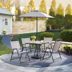 Garden Treasures Driscol 7 Piece Outdoor Dining Set 6
