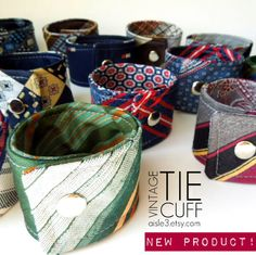 Upcycle~ Use an old tie to make a vintage cuff