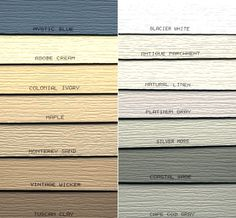 Victorian House Exterior Color Chart | Alside vinyl Siding Colors