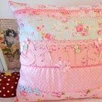 Shabby chic personalised cushion/pillow - The Supermums Craft Fair