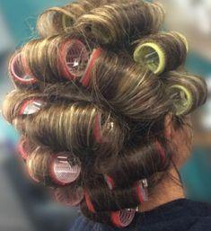 Roller Set, Pin Curls, Hair Styles, Beauty, Hair Plait Styles, Hair Makeup, Hairdos, Haircut Styles, Hair Cuts