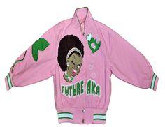 Future AKA Jacket Greek Store, Alpha Kappa Alpha, Pink And Green, Monogram, Boutique, Sweatshirts, Sweaters, How To Wear, Future