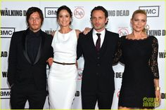 Sarah Wayne Callies, Andrew Lincoln, and Laurie Holden attend the season three premiere of The Walking Dead on Thursday (October 4) in Universal City, Calif.