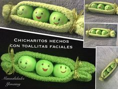 CHICHARITOS HECHOS CON TOALLITAS FACIALES .