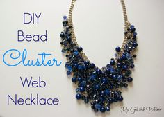 DIY Bead Cluster Web Necklace by My Girlish Whims