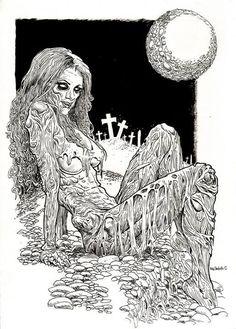 Dark Art - zombie woman