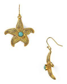 sea life starfish earrings