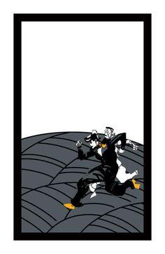 花札の見本。走る仗助&億泰。(c)LUCKY LAND COMMUNICATIONS / 集英社