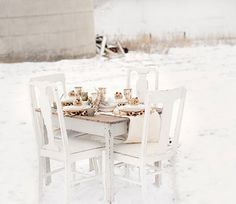 Winter white setting