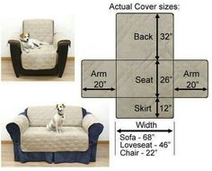 Our selection of essential pet covers makes finding the right pet furniture protection simple. Diy Sofa Cover, Couch Covers, Furniture Covers, Upholstered Furniture, Armchair Slipcover, Slipcovers, Sofa Protector, Recliner Cover, Sofa Throw