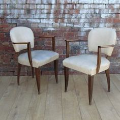 Pair 30s French Bridge Chairs - The Hoarde