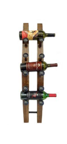 Hand crafted from repurposed oak wine barrels, this wine rack is a fun way to display your favorite wine bottles. And with six different colors, everyone's happy.