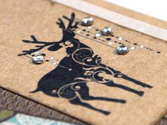 Christmas Cards Set - WINTER & DEER - Handmade Blank Holiday Cards - Set of 4 - Free Shipping. $18,00, via Etsy.