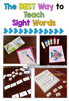 Teach Your Child to Read - Ideas and activities for teaching sight words! Fun and engaging. - Give Your Child a Head Start, and.Pave the Way for a Bright, Successful Future. Teaching Sight Words, Sight Word Practice, Sight Word Games, Sight Word Activities, Preschool Activities, Reading Activities, Preschool Phonics, Jolly Phonics, Montessori Preschool