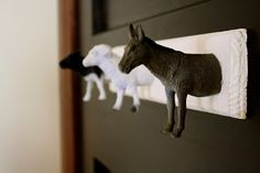 Holly Made: Animal Coat Hooks DIY I would have to put horse's on it!!