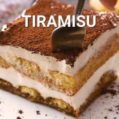 Tiramisu This is a classic Italian dessert that combines espresso-dipped ladyfingers and a creamy mascarpone cream and is dusted with a cocoa powder to finish it. If you are looking to make a homemade. Best Tiramisu Recipe, Homemade Tiramisu, Ina Garten Tiramisu Recipe, Authentic Italian Tiramisu Recipe, Bolo Tiramisu, Tiramisu Dessert, Oreo Dessert, Baking Recipes, Cookie Recipes