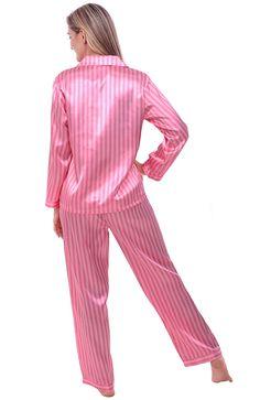 Del Rossa Women's Satin Pajamas, Long Button-Down Pj Set and Mask, 3X Black (A0750BLK3X)