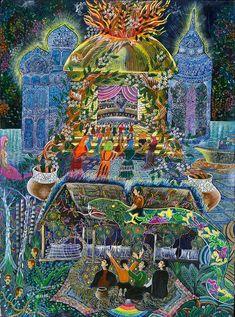 Trueno Ayahuasca  Painting - Pablo Amaringo