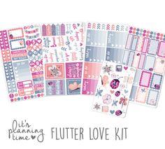It's Planning Time- Flutter Love Planner Sticker Kit