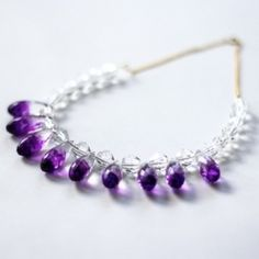 DIY this simple crystal clear necklace or turn it into a see-through ombre jewelry piece.