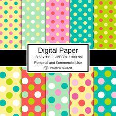 (Free) Pop Dots - 10 Digital Papers - PeachPoPs Digital ClipArt