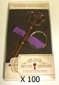 (100) Vintage Skeleton Key Bottle Opener Bridal Shower Wedding Favor Decoration #Unbranded
